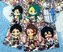 Attack on Titan Boy Style Fashion Anime Toy Figures Keychain Cartoon Keyholder Birthday Unisex Gifts New(China)
