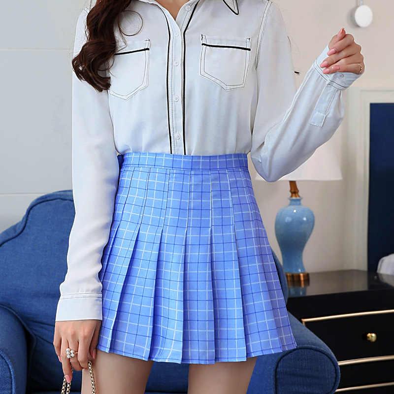 Plissee Tennis Rock EIN Gitter Kurze Sport Röcke Cheerleader Uniform Mit Inneren Shorts Unterhose Für Tennis Laufen Badminton