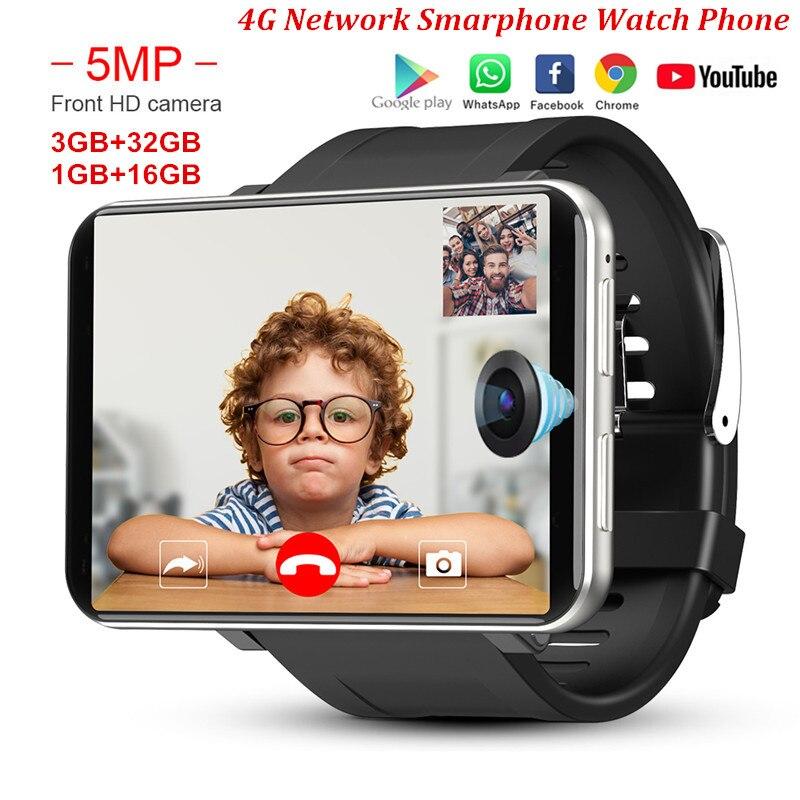 DM100 4G LTE Smart Watch Phone Android 7.1 3GB 32GB 5MP MT6739 2700mAh Bluetooth Fashionable Smartwatch Men PK AEKU I5 Plus DM99