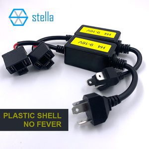Image 2 - Stella 2 pcs H4 canbus decoder for auto lamp capacitance decoding solve light flashing/ high beam doesnt work canbus problem