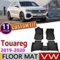 11 цветов на заказ автомобильный кожаный коврик для Volkswagen VW Touareg CR 2019 ~ 2020 5 мест Авто коврик для ног Аксессуары для ковров 3rd 3 Gen