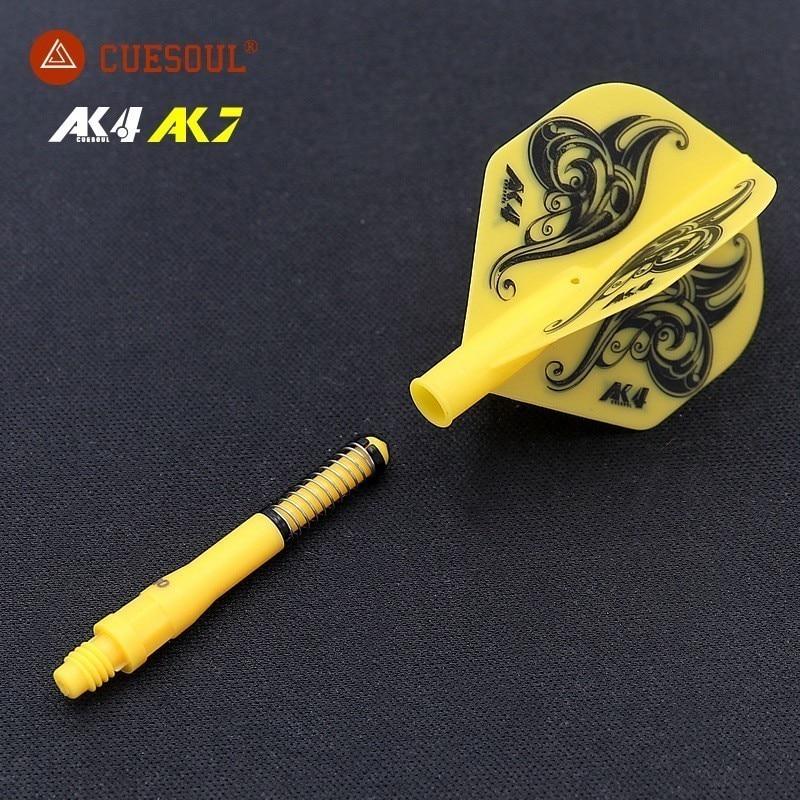 CUESOUL AK4 Dart Flights Feather Leaves With Dardos Shaft Set Standard Shape Durable Anti-fall For Professional Dartboard Games