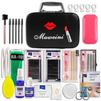 22pcs Professional False Eyelashes Extension Kit Mink Eyelashes with Case No Stimulating Glue Easy Grafting Eyelash Makeup Tools - DISCOUNT ITEM  30 OFF Beauty & Health