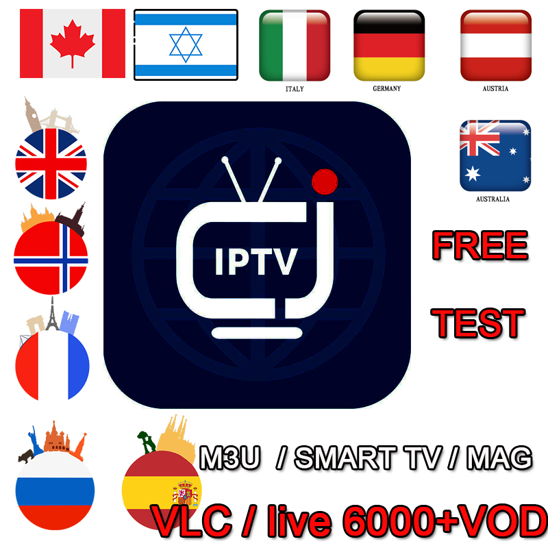 World Live IPTV 12 Months IPTV M3U Subscription Spain Germany France Italy Poland Europe  For Android Enigma2 Smart PC Smart TV