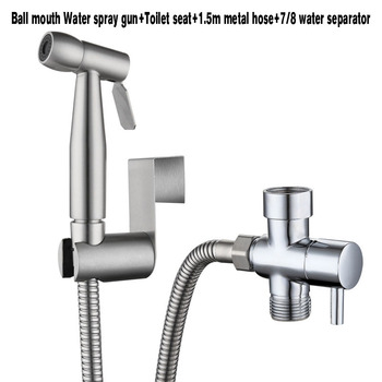 304 Stainless Steel Toilet Hand  Bidets  Faucet  Home Wash Bidet Sprayer Set Accessories Multifunction Kitchen Toilet Cleaning - Ball mouth US Size