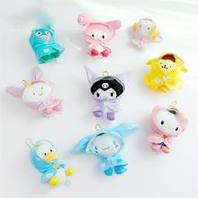 New Cartoon Series Pendant Plush Toys Little Devil bunny Big Ear Dog Puding Kawaii Cartoon Peluches Keyring Dolls Gift