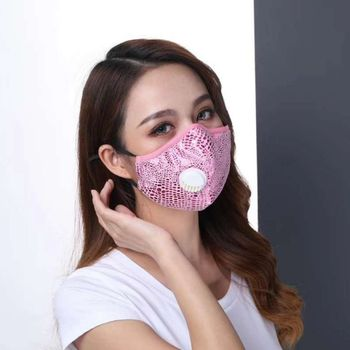 Kids Adult  PM2.5 Washable Cotton Mouth Masks Respirator Mask With Breathing Valve
