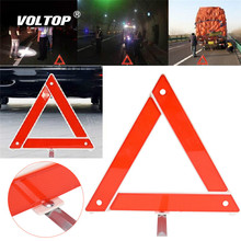 Car Emergency Breakdown Warning Triangle Red Reflective Safety Hazard Tripod Folded Stop Sign Reflector