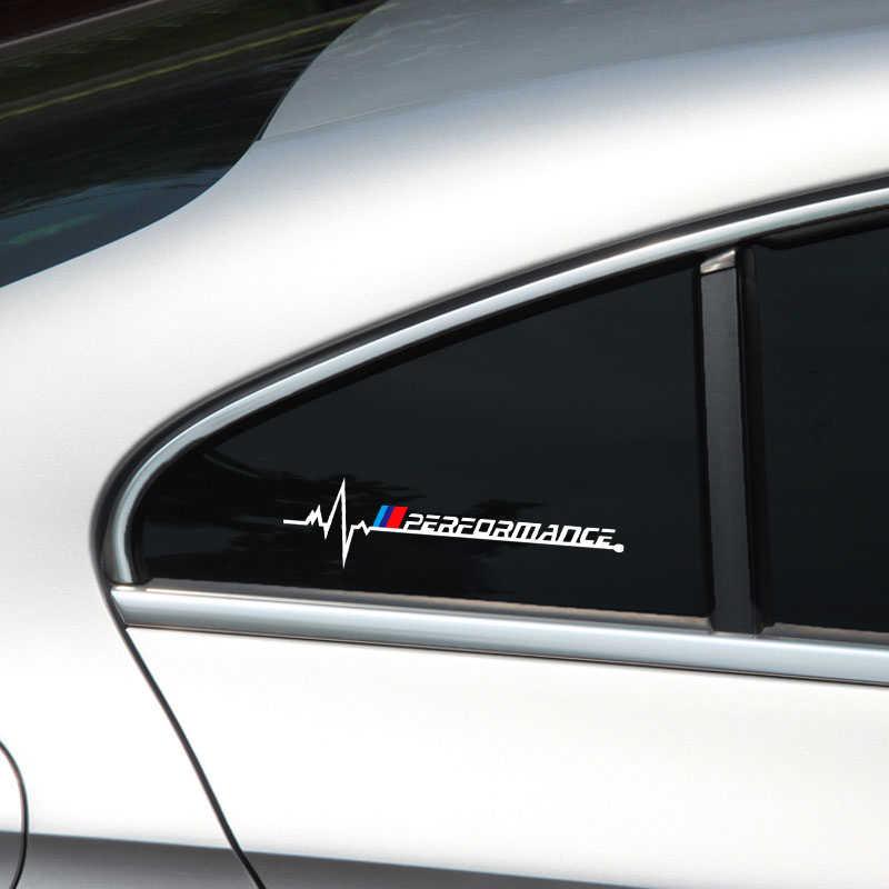 2pcs רכב חלון חדש ביצועים סמל מדבקה עבור bmw X1 X3 X4 X5 X6 X7 e46 e90 e60 e39 f30 e36 f10 f20 e60 e92 e30 רכב סטיילינג