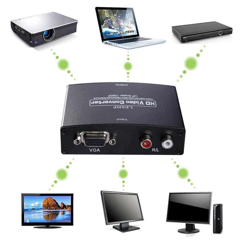 VGA-HDMI-выход 1080P HD аудио ТВ AV HD TV PC Видео Кабель VGA HDMI конвертер адаптер
