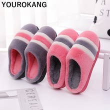 Women Winter Shoes Indoor Bedroom Floor Home Slippers Female Flip Flops Soft Plush Shoes For Lovers Thicken Furry Family Slipper fayuekey sweet spring summer autumn winter home fashion plush slippers women indoor floor flip flops for girls gift flat shoes