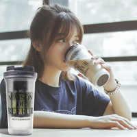 350ml criativo caneca de café dupla parede leite café copos portáteis extrato frio copo café doméstico escritório drinkware