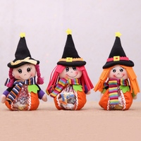 Halloween Trick Or Treat Goody Bags With Zipper Candy Snacks Bag Pouch Halloween Party Supplies vc