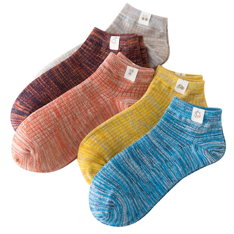 5 Pairs High Quality Spring Summer Breathable Men's Cotton Short Socks Funny Harajuku Happy Socks Male Invisible Socks For Man
