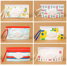 Desenhos animados bonito eva bebê molhado toalhetes saco pequeno peixe listras compõem portátil limpeza clamshell recipiente caso crianças reutilizável caixa