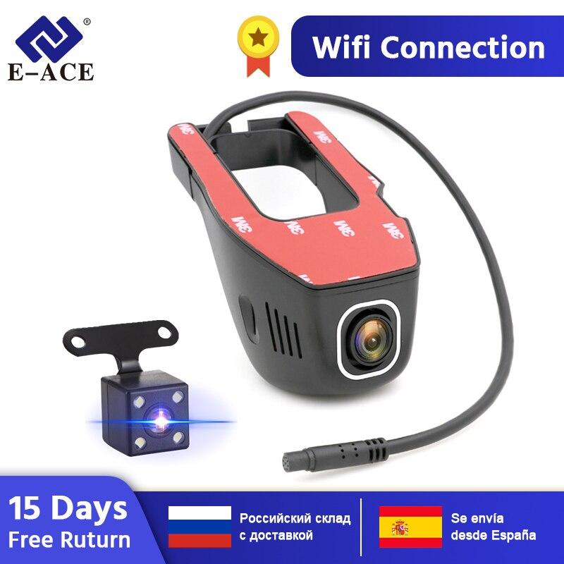 E-ACE voiture DVR Novatek 96655 SONY IMX 323 caméra d'enregistrement cachée Mini enregistreur vidéo automatique FHD 1080P Vision nocturne WiFi caméra de bord