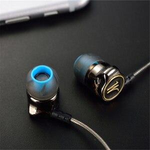 Image 3 - QKZ DM7 Speciale Editie słuchawki metalowe Stereo izolacja hałasu słuchawka douszna wbudowany mikrofon HiFi ciężki bas 3.5mm słuchawki douszne HD HiFi