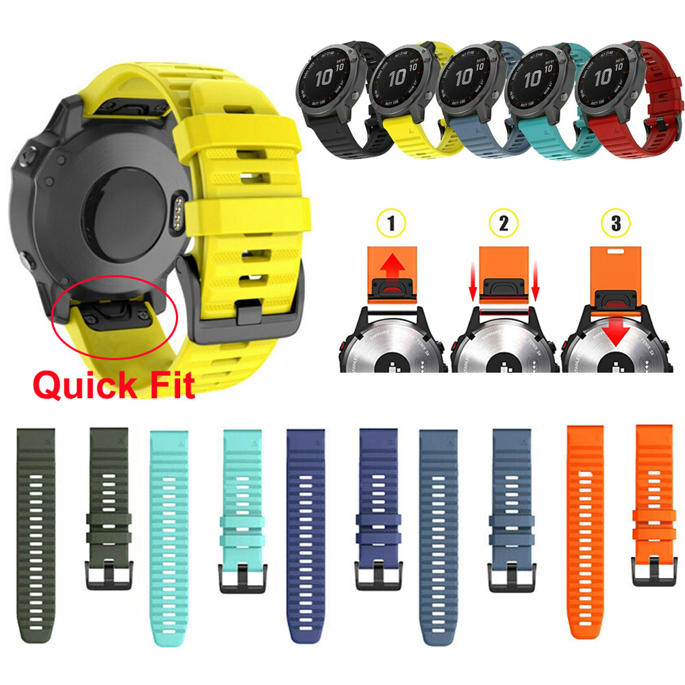 Sport Watch Band Strap For Garmin Fenix 6S 6 6X Pro 5X 5 5S Plus 3 3HR D2 S60 GPS Watch Quick Release Silicone Easyfit Wristband