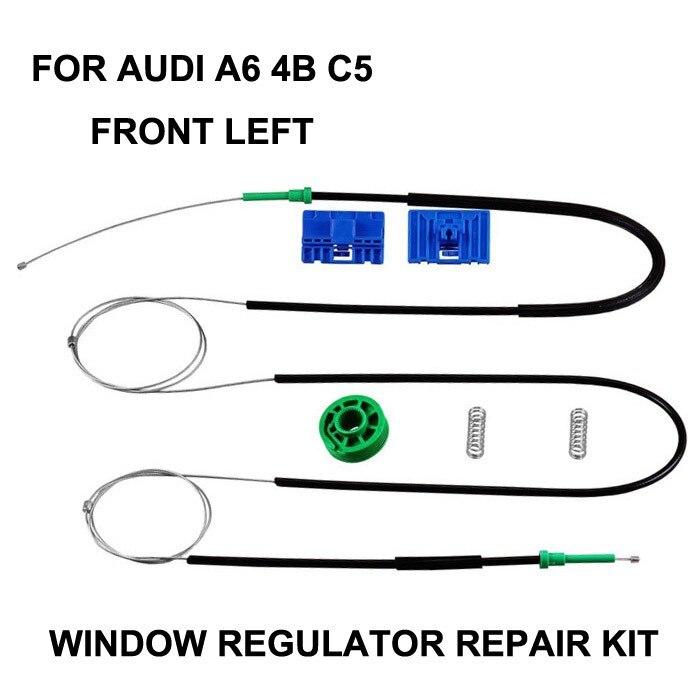 Автомобильный оконный кабель для AUDI A6 4B C5, набор для ремонта электрического оконного регулятора для A6 AVANT Allroad, передний, левый, OE 4B0837461|window regulator repair kit|window regulator repairwindow regulator cable | АлиЭкспресс