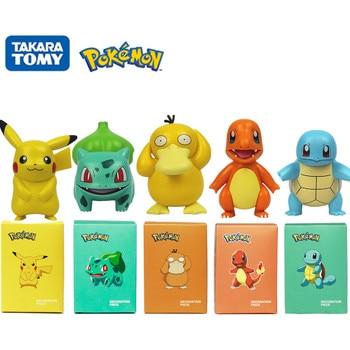Original Pokemon Pikachu Figures Charmander Bulbasaur Squirtle Psyduck Pocket Monster Anime Model Toys Kids Xmas Gifts 1