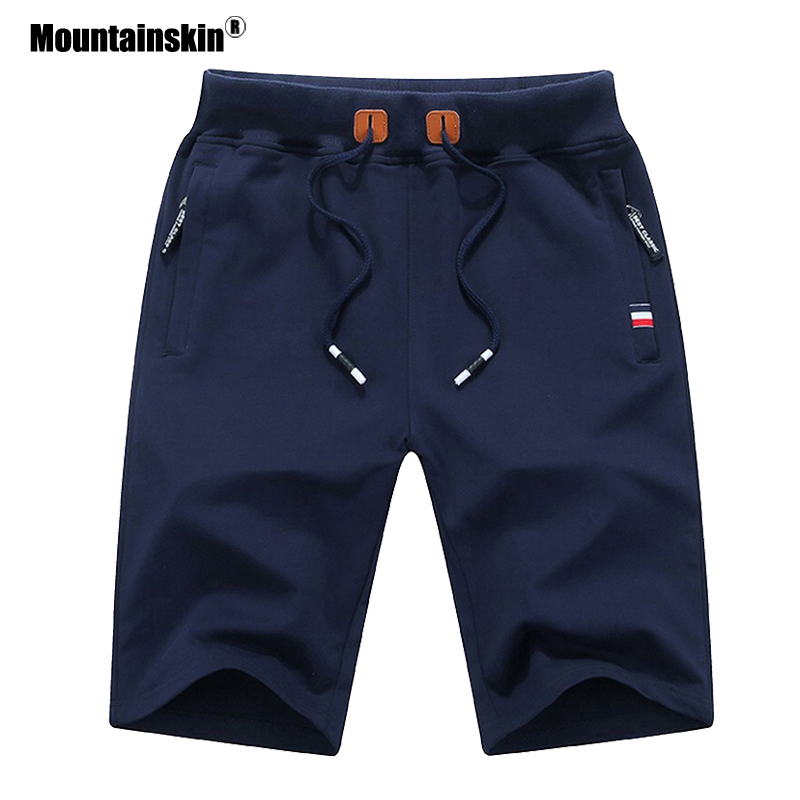 Mountainskin 2020 Solid Men's Shorts Summer Mens Beach Shorts Cotton Casual Male Sports Shorts homme Brand Clothing SA932