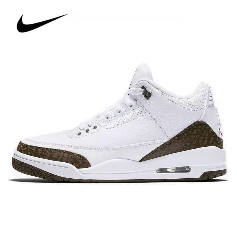 Nike Air Jordan 3 Retro Mocha(2018) Mens Jordan Basketball Shoes High-top Sneakers Breathable Sports Shoes Boots 136064-122