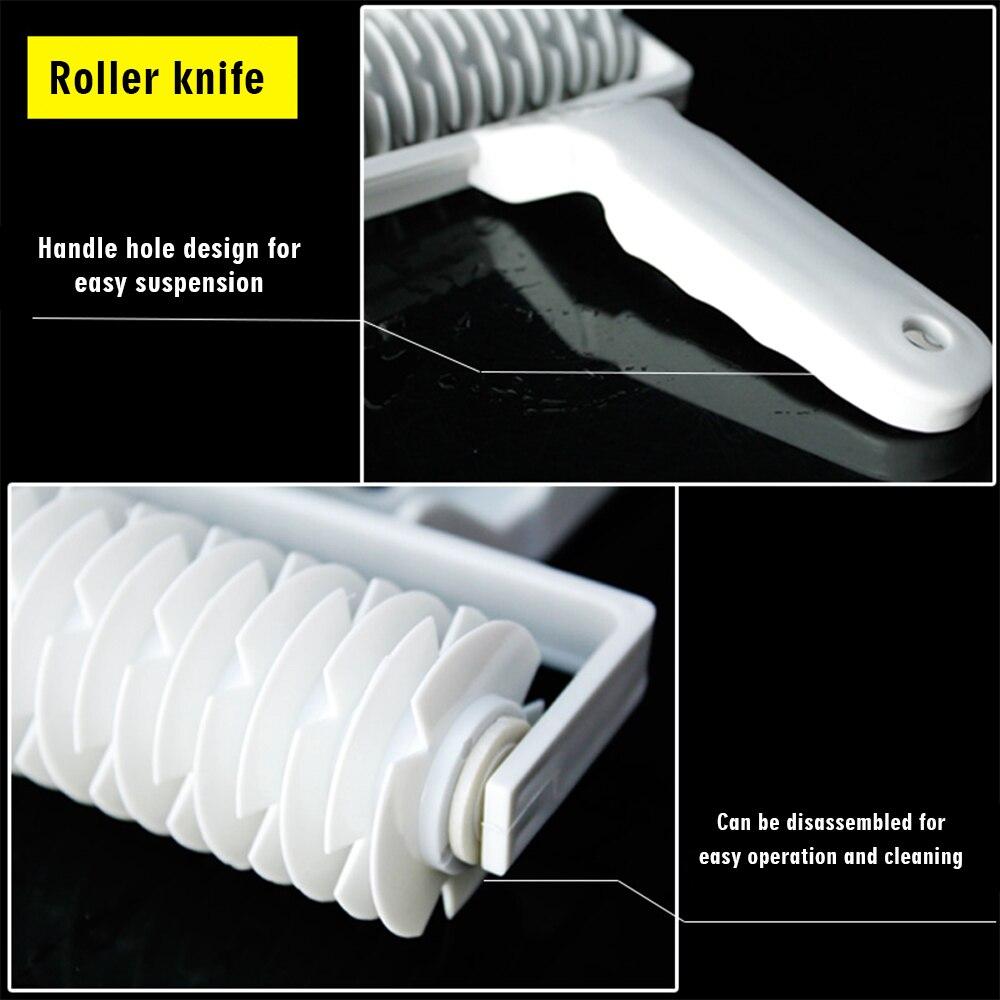 Plastic Pull Net Pizza Knife Wheel Pasta Lattice Roller Cutter Dough Biscuit Pie Home Cookie Mesh Cookie Cutter Pizzarette