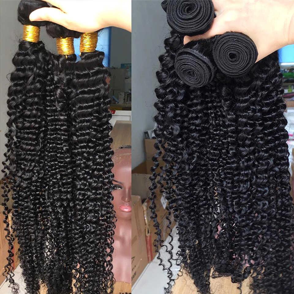 Queenlife 30 32 34 36 inç derin dalga demetleri brezilyalı saç demetleri insan saçı postiş 1/3/4 demetleri Remy saç örgü demetleri
