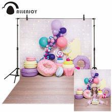Allenjoy photophone arka plan kek smash tuğla duvar bokeh glitter tatlı kız balon doğum günü çörek parti arka planında photozone
