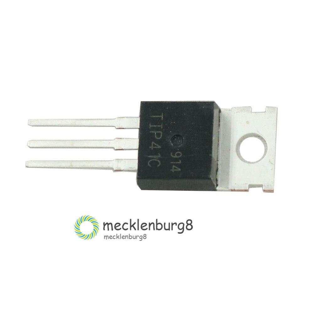200pcs TIP41C TO-220 Bipolar Transistors 6A 100V NPN Audio Power Amplifier