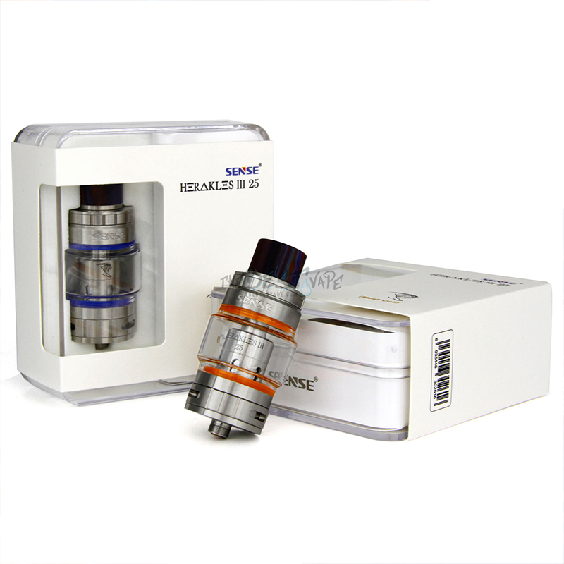 Hot Sale! SENSE HERAKLES 3 25MM MESH SUBOHM TANK 8mL 510 Thread 0.15ohm RTA Atomizer Tank Fit For E-Cigarettes 510 Battery Mod