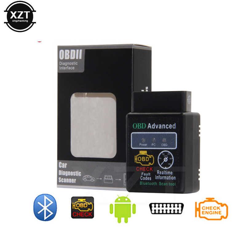 En çok satan kablosuz bluetooth ELM 327 V1.5 V 1.5 OBD2 OBDII adaptörü otomatik android için tarayıcı kod okuyucu teşhis aracı