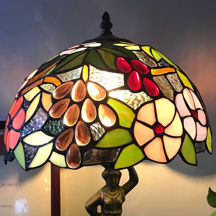 Mediterranean Retro Style Glass Turkish Mosaic Table Lamps Handworked Study Bedroom Home Art Decor Turkish Lamp|LED Table Lamps| |  - title=