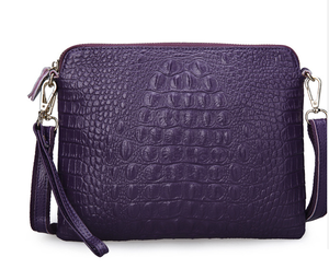 Image 5 - Ipad Mini Tassen Nieuwe Aankomst Tas Fashion Echt Lederen Handtassen Vrouwen Aligator Clutch Bag Messenger Schoudertassen A216
