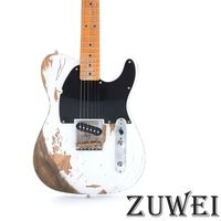 Heavy Relic Esquire Electric Guitar Aged Hardware Nitro Finish Brass Saddles Vintage Tuner Top Selling