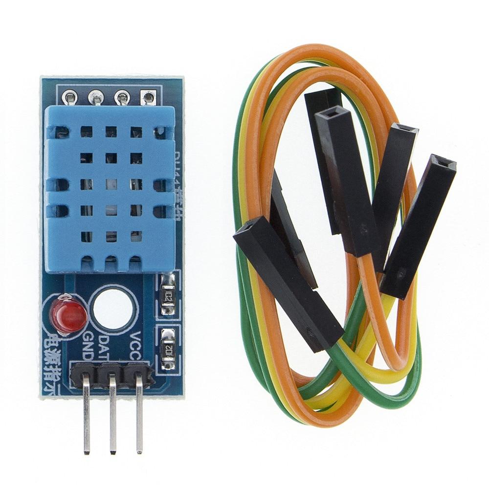 TENSTAR ROBOT 50PCS Single Bus DHT11 Digital Temperature and Humidity Sensor DHT11 Probe