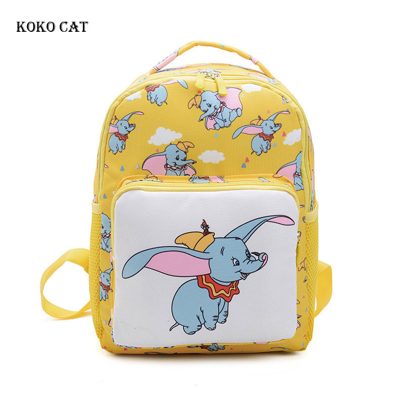 Cute Cartoon Dumbo Baby Safety Harness Backpack Kid Anti-lost Bag Children Toddler Kindergarten School Bag For Girls Boy Mochila