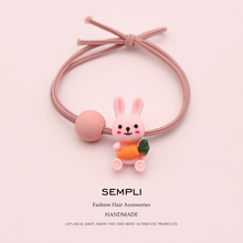 Sempli High Quality Plastic Cute Rabbit For Women Kid Elastic Hair Bands Elasticity Nylon Rubber Children Headwear