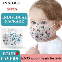 Kn95 máscara protetora para crianças 4 camadas filtro máscara de boca n95 respirável mascarillas ffp2 reutilizável masque enfant
