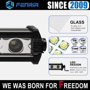 Image 5 - car accessories led light bar offroad 4x4 headlights work fog light motorcycle for VW passat b6 royal enfield vespa lada niva