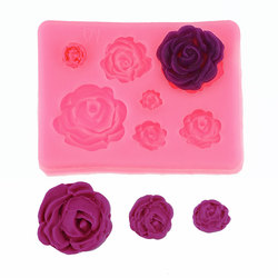 Rose Flowers silicone mold Cake Chocolate Mold wedding Cake Decorating Tools Fondant Sugarcraft Cake Mold