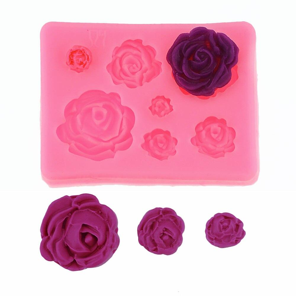 Rose Flowers silicone mold Cake Chocolate Mold wedding Cake Decorating Tools Fondant Sugarcraft Cake Mold