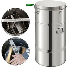 VEVOR Manual Honey Extractor 2 Frame Stainless Steel Honeycomb Spinner Crank Beekeeping Equipment