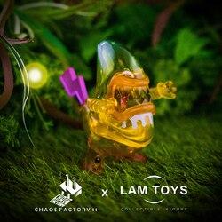 Echtes LAMTOYS Alien banana schatz erste bombe blind box verfärbung hand zu tun auto dekoration puppe spielzeug