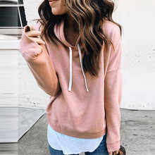 Women Long Sleeve Hoodie Sweatshirt Jumper Hooded Pullover Crop Top Blouse Suit butterfly sleeve button through crop blouse