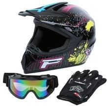 Samger Motorcycle Helmet Black Professional Racing Motocross Off-Road H