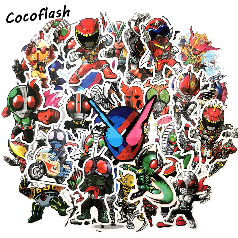 50pcs/set Anime Kamen Rider Stickers For Laptop Skateboard Home Decoration Car Styling Vinyl Decals Doodle DIY Toy Sticker