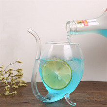 Juice-Milk-Cup Straw Whiskey Glass Drinking-Tube Heat-Resistant Tea with Sucking