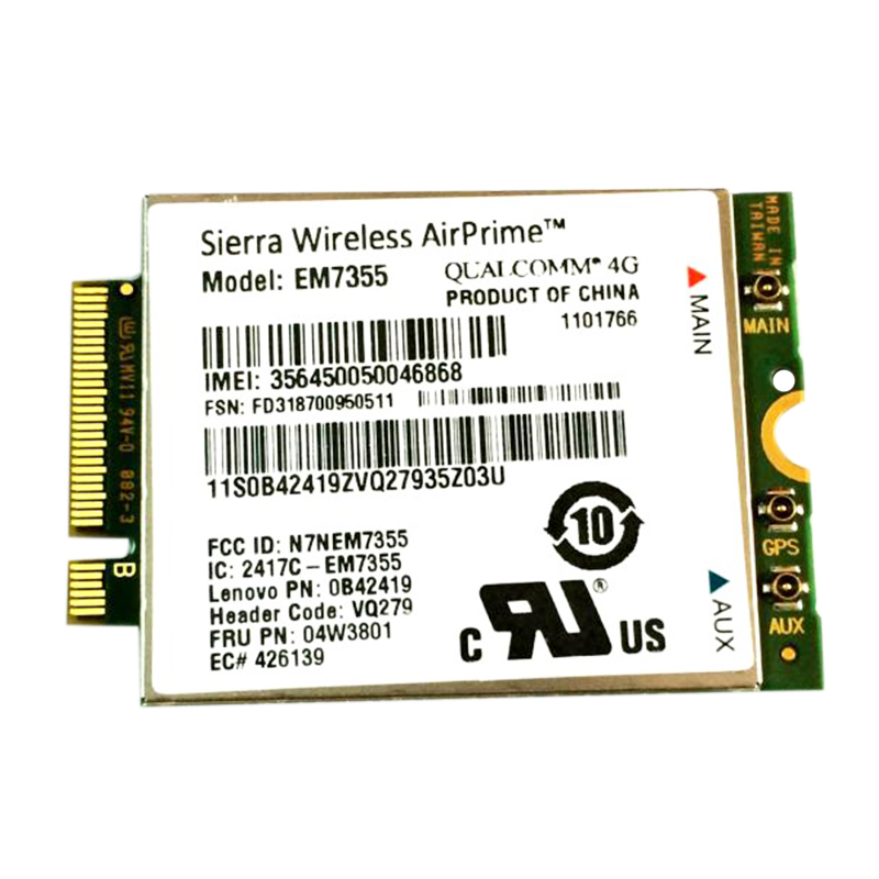 EM7355 LTE/EVDO/HSPA + 42 Мбит/с NGFF карта 4G модуль для lenovo Thinkpad T431S T440 T440S T440P T540P W540 X240