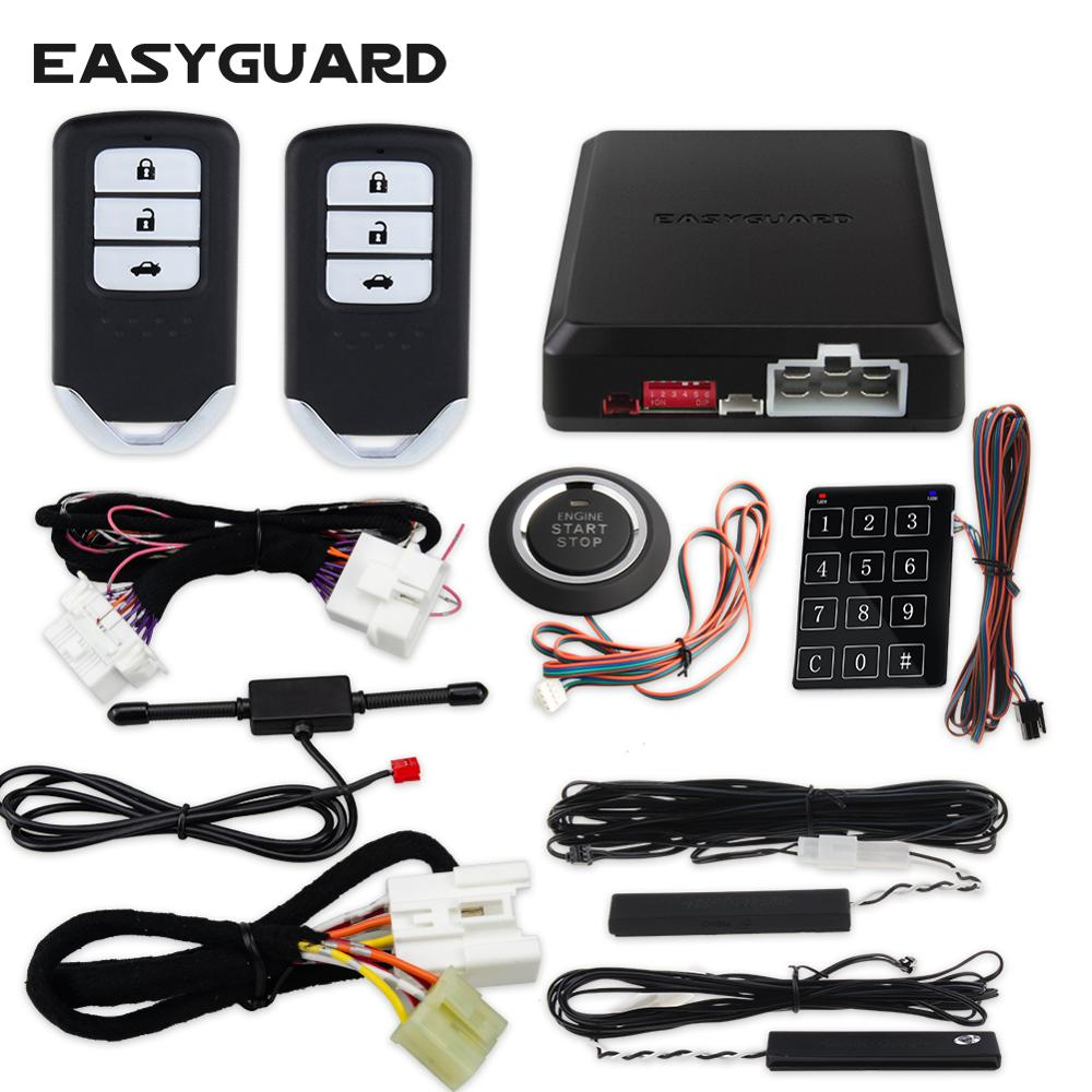 EASYGUARD CAN BUS style pke kit fit for Honda accord  CRV  civic plug & play easy installation remote start stop push button|Burglar Alarm| |  - title=